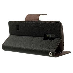 Diary PU kožené pouzdro na Samsung Galaxy S5 mini - černé/hnědé - 4