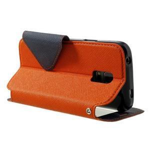 Pěněženkové pouzdro s okýnkem pro Samsung Galaxy S5 mini -  oranžové - 4
