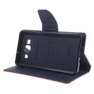 Mr. Fancy koženkové pouzdro na Samsung Galaxy A5 - červené - 4