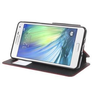 Stylové pouzdro s okýnkem na Samsung Galaxy A5 - červené - 4