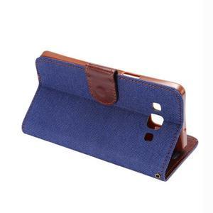 Jeans peněženkové pouzdro na Samsung Galaxy note 3 - tmavěmodré - 4
