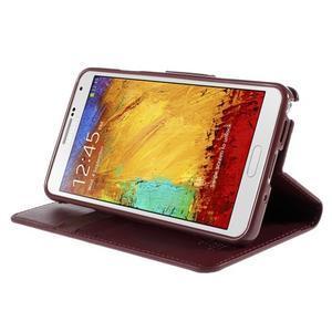 Setsnow PU kožené pouzdro na Samsung Galaxy Note 3 - vínové - 4