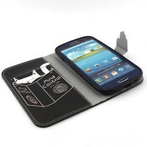 Peněženkové pouzdro na mobil Samsung Galaxy S3 - kočička s knihou - 4