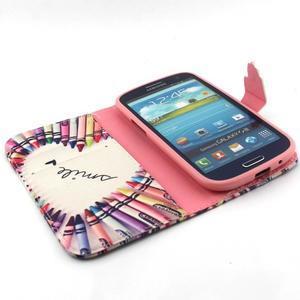 Peněženkové pouzdro na mobil Samsung Galaxy S3 - srdce z voskovek - 4
