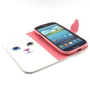 Peněženkové pouzdro na mobil Samsung Galaxy S3 - kočička - 4