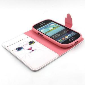 Fun peněženko pouzdro na Samsung Galaxy S3 mini - kočička - 4