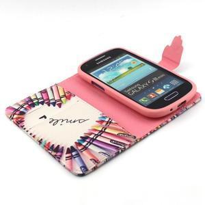 Fun peněženko pouzdro na Samsung Galaxy S3 mini - srdíčko z voskovek - 4