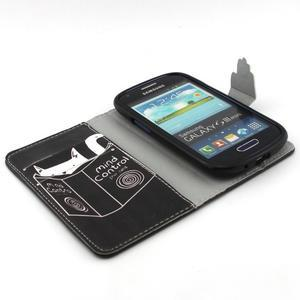 Fun peněženko pouzdro na Samsung Galaxy S3 mini - kočička čte - 4