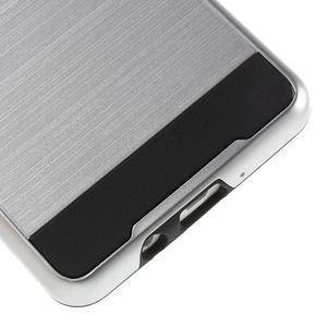 Hybridní gelové/plastové pouzdro na Samsung Galaxy A5 - stříbrné - 4