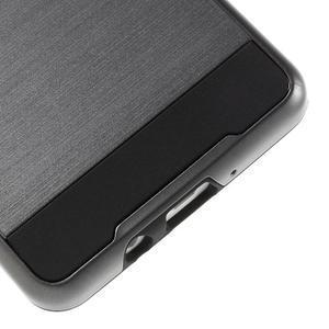 Hybridní gelové/plastové pouzdro na Samsung Galaxy A5 - šedé - 4
