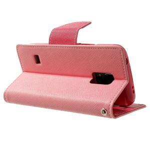 Diary PU kožené pouzdro na Samsung Galaxy S5 mini - růžové - 4