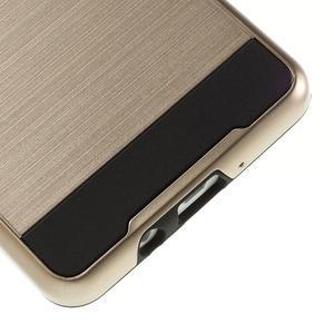 Hybridní gelové/plastové pouzdro na Samsung Galaxy A5 - zlaté - 4