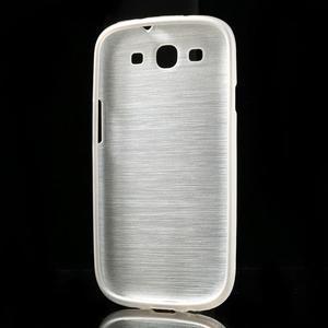 Brush gelový kryt na Samsung Galaxy S III / Galaxy S3 - bílý - 4