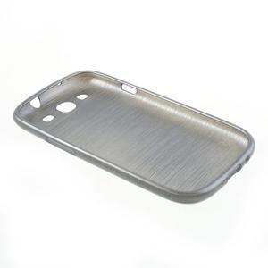 Brush gelový kryt na Samsung Galaxy S III / Galaxy S3 - šedý - 4