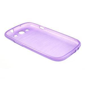 Brush gelový kryt na Samsung Galaxy S III / Galaxy S3 - fialový - 4