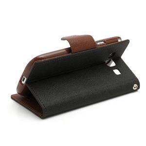 Mr. Fancy koženkové pouzdro na Samsung Galaxy S3 - černé/hnědé - 4