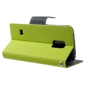 Diary PU kožené pouzdro na Samsung Galaxy S5 mini - zelené - 4