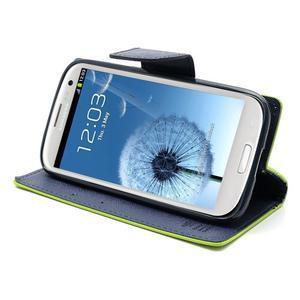 Mr. Fancy koženkové pouzdro na Samsung Galaxy S3 - zelené - 4
