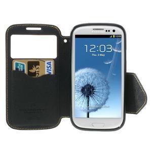 Peněženkové pouzdro s okýnkem pro Samsung Galaxy S3 / S III - žluté - 4