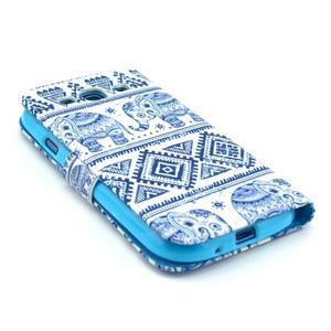 Peněženkové pouzdro na mobil Samsung Galaxy S III - sloni - 4