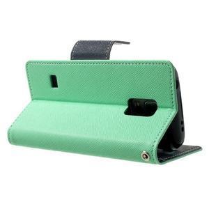 Diary PU kožené pouzdro na Samsung Galaxy S5 mini - azurové - 4