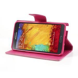 Goosp PU kožené pouzdro na Samsung Galaxy Note 3 - růžové - 4