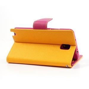 Goosp PU kožené pouzdro na Samsung Galaxy Note 3 - žluté - 4