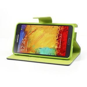 Goosp PU kožené pouzdro na Samsung Galaxy Note 3 - tmavěmodré - 4