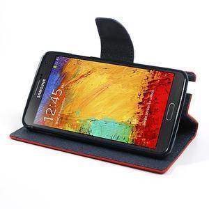 Goosp PU kožené pouzdro na Samsung Galaxy Note 3 - červené - 4