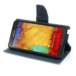 Goosp PU kožené pouzdro na Samsung Galaxy Note 3 - azurové - 4