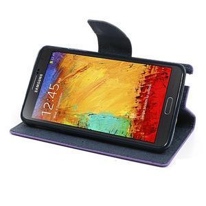 Goosp PU kožené pouzdro na Samsung Galaxy Note 3 - fialové - 4
