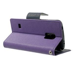 Diary PU kožené pouzdro na Samsung Galaxy S5 mini - fialové - 4