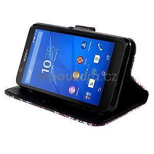 Koženkové pouzdro na mobil Sony Xperia E4 - motýlci - 4