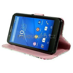 Koženkové pouzdro na mobil Sony Xperia E4 - Eiffelova věž - 4
