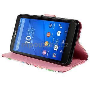 Koženkové pouzdro na mobil Sony Xperia E4 - sovičky - 4