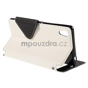 Peněženkové pouzdro s okýnkem pro Sony Xperia M4 Aqua - bílé - 4