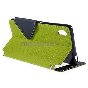 Peněženkové pouzdro s okýnkem pro Sony Xperia M4 Aqua - zelené - 4