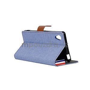 Jeans peněženkové pouzdro na mobil Sony Xperia M4 Aqua - světle modré - 4