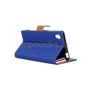 Jeans peněženkové pouzdro na mobil Sony Xperia M4 Aqua - modré - 4