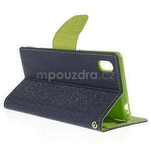 Ochranné pouzdro na Sony Xperia M4 Aqua - tmavěmodré/zelené - 4