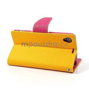Fancy peněženkové pouzdro na mobil Sony Xperia Z1 - žluté - 4