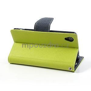 Fancy peněženkové pouzdro na mobil Sony Xperia Z1 - zelené - 4