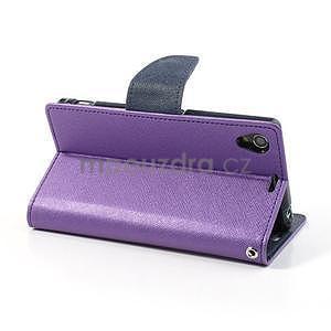 Fancy peněženkové pouzdro na mobil Sony Xperia Z1 - fialové - 4