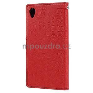 Peněženkové pouzdro na mobil Sony Xperia Z3 - červené - 4