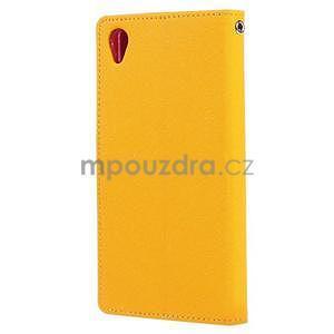 Peněženkové pouzdro na mobil Sony Xperia Z3 - žluté - 4