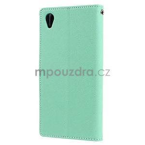 Peněženkové pouzdro na mobil Sony Xperia Z3 - azurové - 4