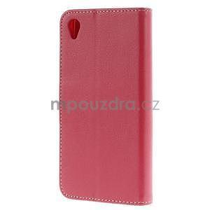Koženkové pouzdro na Sony Xperia Z3 - červené - 4
