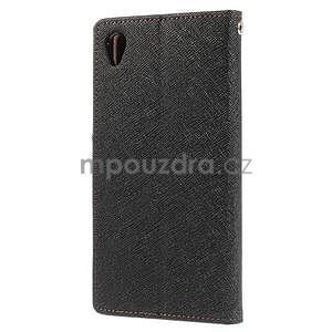 Peněženkové pouzdro na mobil Sony Xperia Z3 - černé/hnědé - 4