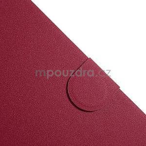 PU kožené peněženkové pouzdro pro tablet Samsung Galaxy Tab 4 8.0 - magenta - 4