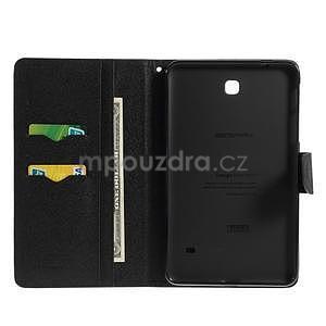 Černé peněženkové pouzdro Goospery na tablet Samsung Galaxy Tab 4 8.0 - 4